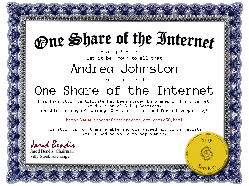 just use your name instead of andreas and youll own part of the internet